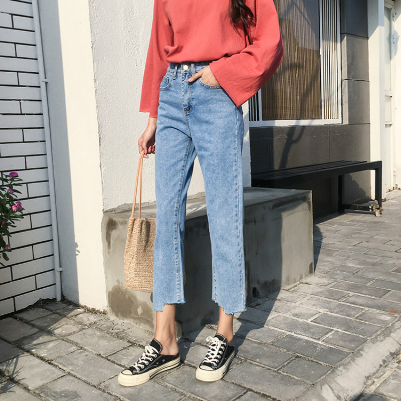 Image 5 - Jeans Women Chic Loose Simple Korean Style Casual Daily Autumn All match High Quality Trendy Student Pockets Womens Jean 2020 BFJeans   -