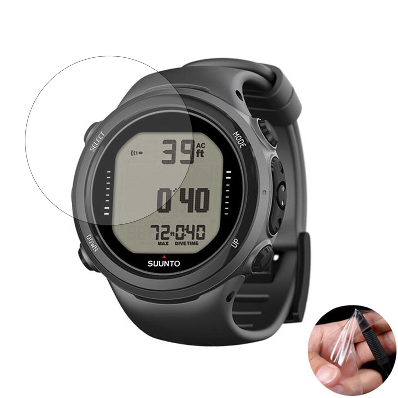 3pcs Soft Clear Protective Film Guard For Suunto D4i D6i Novo Diving Watch GPS Sport Smartwatch Screen Protector Cover (No Glass