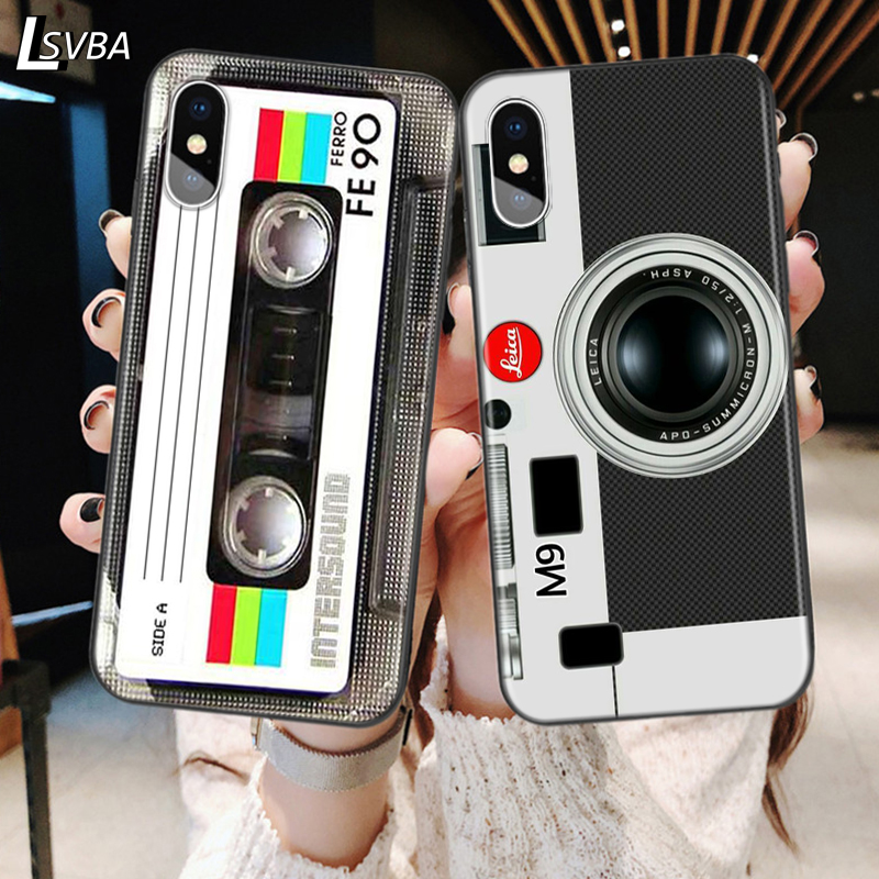 Classical Cassette Tape Back Silicone Phone Case For Apple iPhone 11 Pro XS Max X XR 6S 6 7 8 Plus 5S Se Soft Black Cover