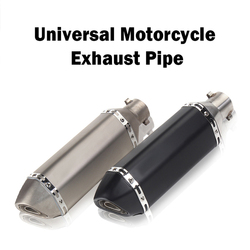 Escape de carreras Universal 35-51 MM Tubo silenciador moto escape ajuste para la mayoría de moto rcycle ATV Dirt bike Scooter 125-1000cc