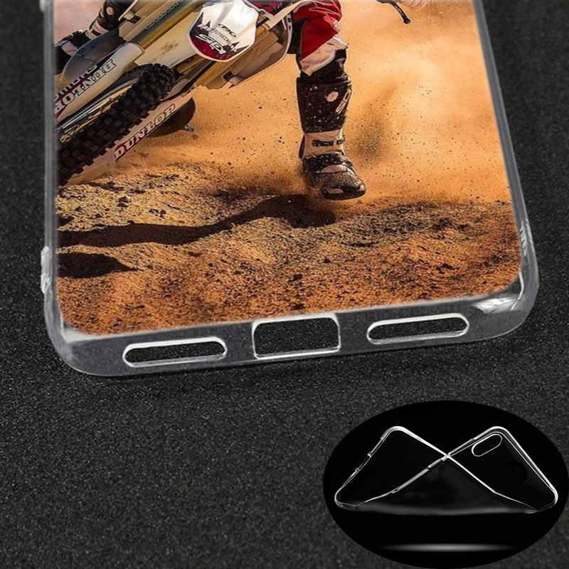 Luxury Silikon Case Motocross Sepeda Kotoran untuk Xiaomi Redmi K20 Pro 7 7A 6 6A 4X5 Plus S2 go CATATAN 8 7 6 5 Pro 4 Fashion