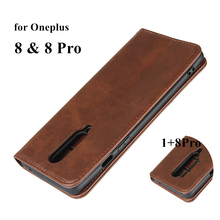 Leather case For Oneplus 8 Pro 1+ One Plus 8 Pro Flip case card holder Holster Magnetic attraction Cover Case Wallet Case