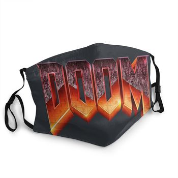 Doom Game Adult Non-Disposable Face Mask Pattern Anti Haze Dustproof Protection Mask Respirator Mouth Muffle недорого