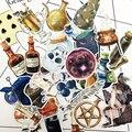 35 шт одежда с ручной росписью волшебные наклейки на бутылки ремесла и Скрапбукинг декоративные тонкие бумажные наклейки миньонов прекрасн...
