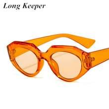 Женские солнцезащитные очки с кошачьим глазом longkeeper модные