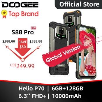 IP68/IP69K DOOGEE S88 Pro Rugged Mobile Phone 10000mAh telephones Helio P70 Octa Core 6GB RAM 128GB ROM smartphone Android 10 OS