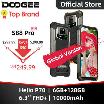 IP68/IP69K DOOGEE S88 Pro sağlam cep telefonu 10000mAh telefonları Helio P70 Octa çekirdek 6GB RAM 128GB ROM akıllı telefon Android 10 OS
