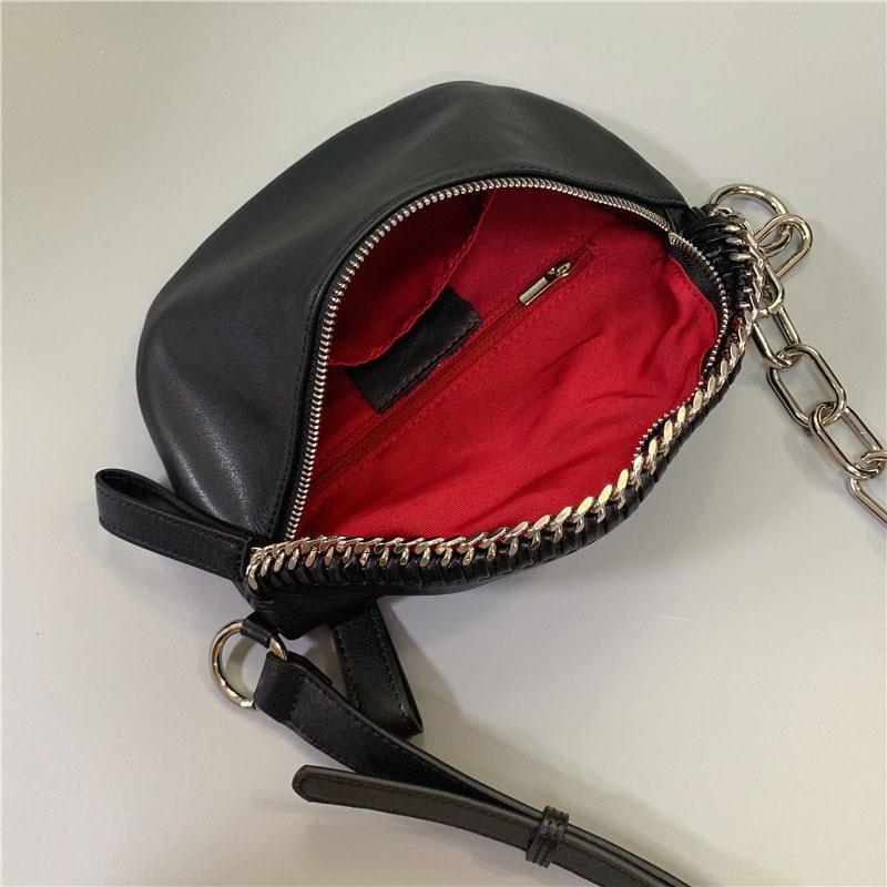 Real Genuine Leather Waist Pack Women's Handbags Brand Chest Bum Bags Fashion Female 2020 Casual Shoulder Messenger Bag Travel