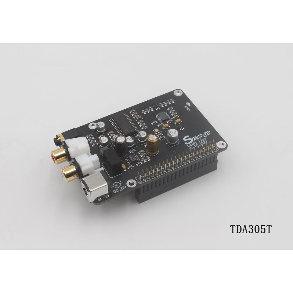 TDA1305T декодер ЦАП Плата цифрового вещания сетевой плеер для Raspberry Pi 2B 3B 3B + декодирование на ies 32 бит 384 кГц DSD128