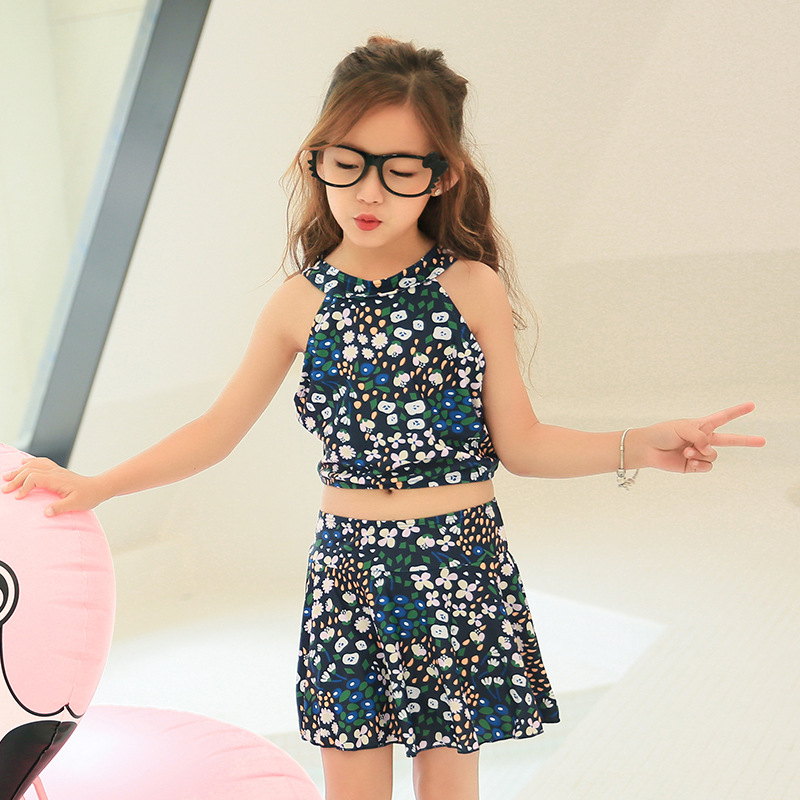 Korean-style Girls Swimwear Princess Bikini CHILDREN'S Swimsuit Big Boy Baby Girls Split Skirt-Students Swimwear