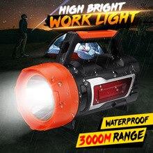 500 W LED Light Spotlight โคมไฟกลางแจ้งไฟฉายกันน้ำไฟฉายสำหรับเดินป่าตกปลาฉุกเฉิน