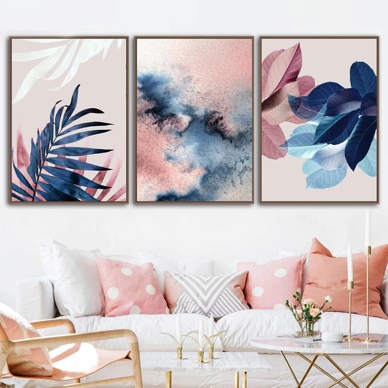 Skeleton Leaf,Leaves Wall Art,Botanical Print,Nordic Decor Home,Watercolor,Digital Art Print Purple Rose Flowers /& Leaves Art print,Set 2