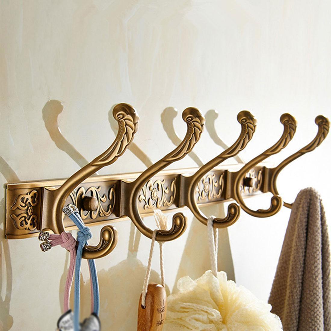 Купить роскошная настенная вешалка для ванной 5 ряд крючков крючок