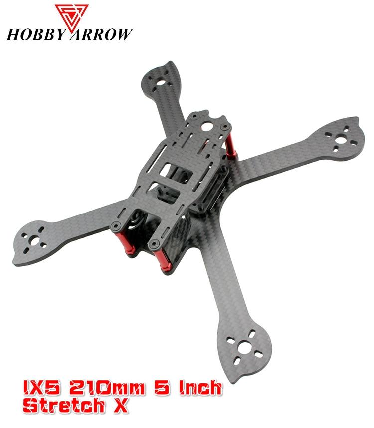 Hobbyarrow IX5 210mm 5 Inch 4mm Carbon Fiber X Racing Frame Kit For RC Multirotor Quadcopter FPV Racing Drone