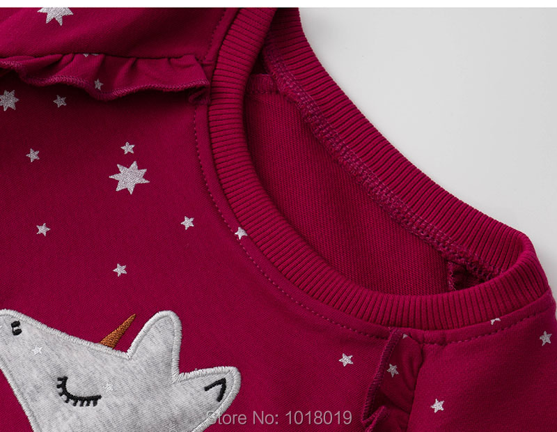 Kids Hoodies Outerwear Bebe Girls Tops Fleeces Sweatshirt Baby Girl Clothes Sweaters 100% Interloop Cotton t shirts Cartoon Tees 3