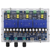 XH A310 Bluetooth 5.0 TPA3116 D2 Digital Power Stereo Amplifier Board 4 Channels 50Wx2+100Wx2 Dual Bass Subwoofer AMP Module|Operational Amplifier Chips|   -