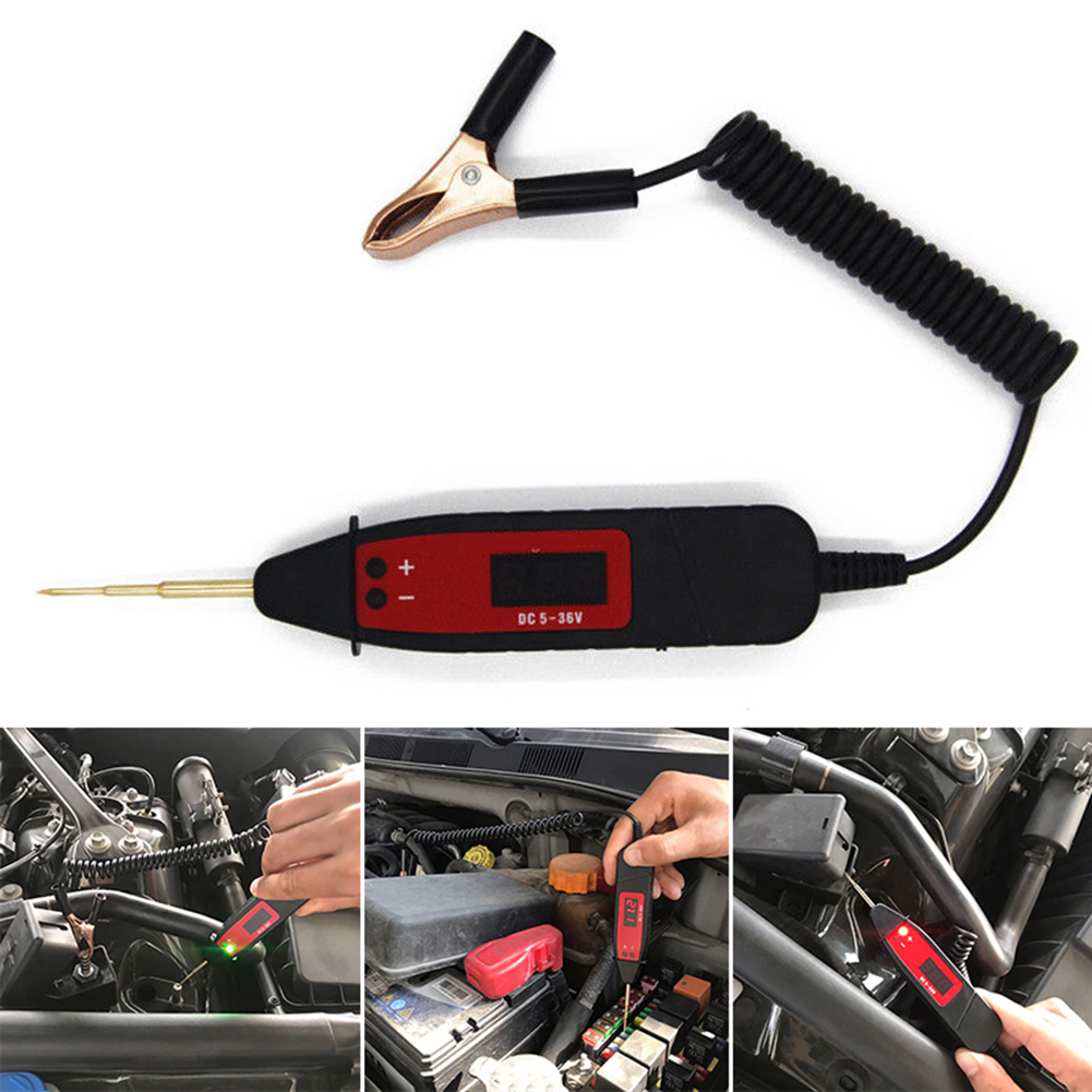 Durable 5-36V Car LCD Digital Electric Voltage Power Test Pen Probe Detector NonContact Tester Accessory LED Light Test Tools D6