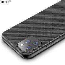 Нескользящий мягкий чехол из углеродного волокна для iPhone 11 Pro Max XS XR X 5 6 S SE 2020 5S 6 S 7 8 Plus мобильный телефон Чехол задний бампер