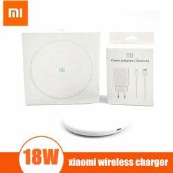 18W Plug Original xiaomi carregador sem fio de carga qi para xiaomi Mi9 MiX Mix 3 2S Qi Para o iphone XS XR XS MAX