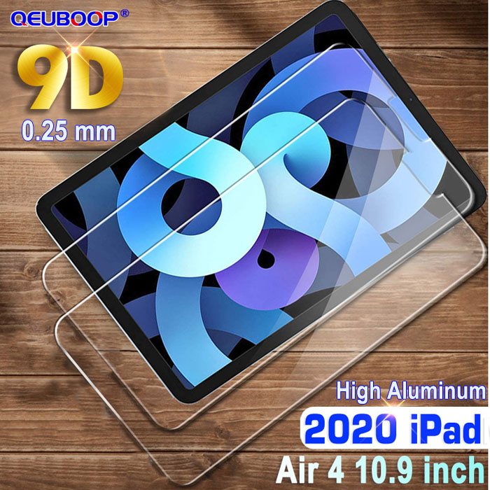 9D Glass Black For 2020 Apple iPad Air 4 10 9 TPU Tablet Case For iPad Air 4th generation