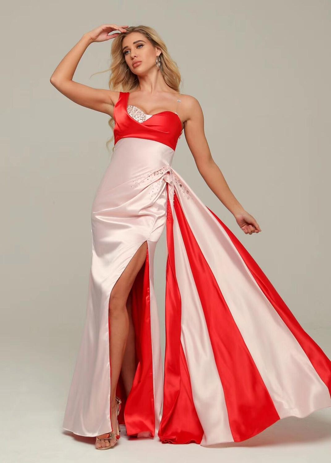 Maxi Dress Elegant Sexy One Shoulder Celebrity Fashion Night CLub Wedding Party Dress Christmas Holiday Long Dresses Sexy