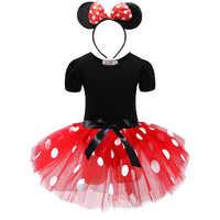Vestido de princesa de Mickey Mouse y Minnie para niña, disfraz divertido para fiesta de cumpleaños, ropa para niños de 1, 2, 3, 4, 5 y 6 años