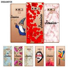 Marble Custom Name DIY Transparent Soft Silicone Case Cover For Samsung Galaxy Note 3 4 5 8 9 10 Plus M10 M20 M30 Grand Prime цена 2017
