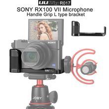 BEESCLOVER สำหรับ Sony RX100 VII UURig R017 Vlog L แผ่นรองเท้าเย็นไมโครโฟน Handle Grip ไมโครโฟน Handle Grip r60