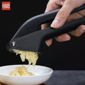 Image 1 - Original HUOHOU Kitchen Garlic Presser Manual Garlic Crusher Kitchen Tool Micer Cutter Squeeze Tool Fruit & Vegetable