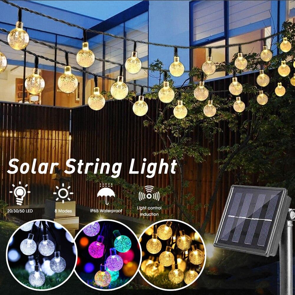 Natal solar string luzes ao ar livre