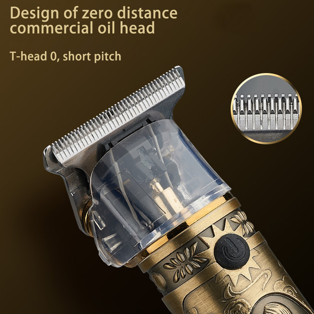 Professional Hair Clippers Barber Haircut Sculpture Cutter Rechargeable Razor Trimmer Adjustable Cordless Edge for Men 6