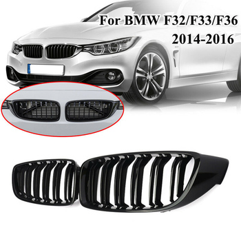 Car Cabriolet Coupe Decoration Gloss Black Front Kidney Grille Double Slat M4 Sport Style Grill for BMW F32 F33 2014 2015 2016