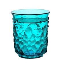 Стеклянная чашка для сока 250 мл рельефная Ретро водная текстура