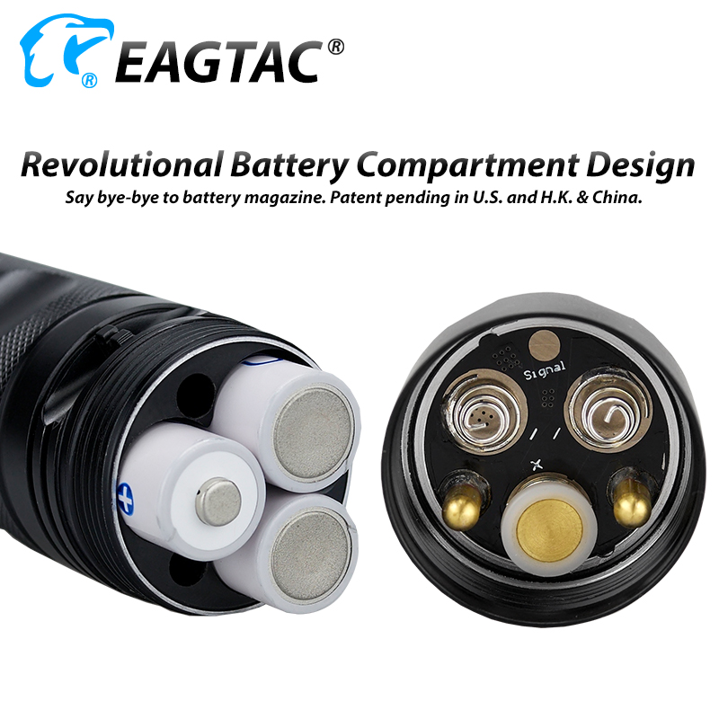 EAGTAC SX25A6 LED Flashlight 1494 Lumens 6*AA Battery Three Outputs Instant Strobe SOS Flash Beacon - 4