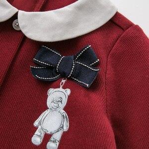 Image 4 - DB11981 dave bella sonbahar bebek kız prenses sevimli çiçek yay elbise çocuk moda parti elbise çocuk bebek lolita giysileri