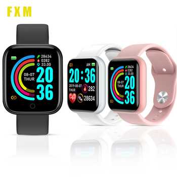Smart Watch Y68 Bluetooth Fitness Tracker Sports Watch Heart Rate Monitor Blood Pressure Smart Bracelet for Android IOS relogio sovogu b05 smart watch 1 3 hd touch screen blood pressure heart rate monitor digital pedometer bracelet for ios android r15