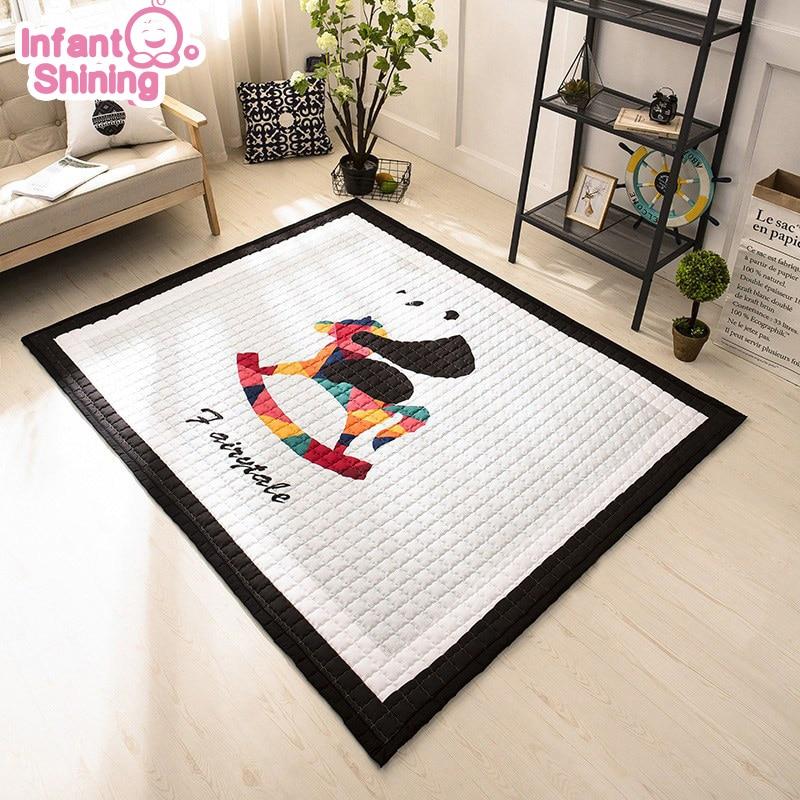 Tapis de jeu brillant pour bébé tapis rampant épaississement tapis de jeu pour bébé salon pour enfants Puzzle salon tapis de chambre pour enfants