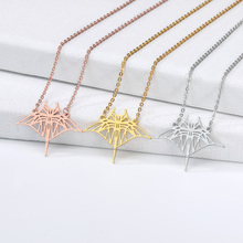 2019 new necklace bat gold silver rose animal stainless steel mens jewelry birthday gift couple