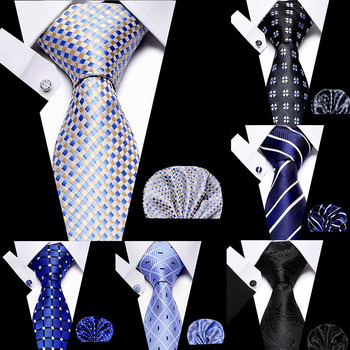 New 7.5cm 100% Silk Tie Floral Necktie Fashion Stripe Handkerchief Cuffink Ties Set Formal Dress Accessories Wedding Party Ties floral embroidered tie detail stripe dress