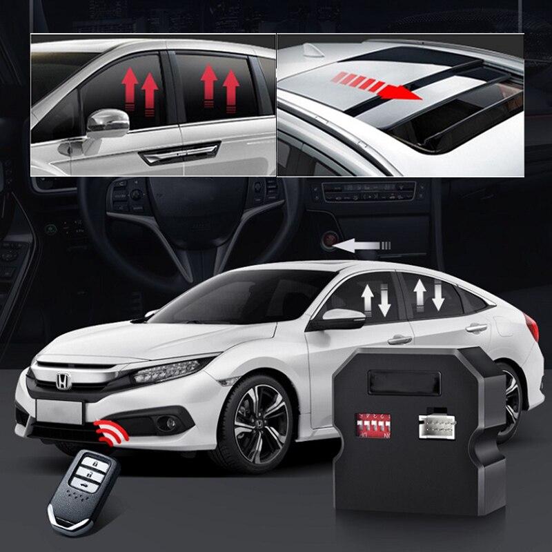 Elevador de ventana automático modificado para Honda Civic décimo generación 2015 2016 2017 2018 2019 2020 bloqueo automático de elevación