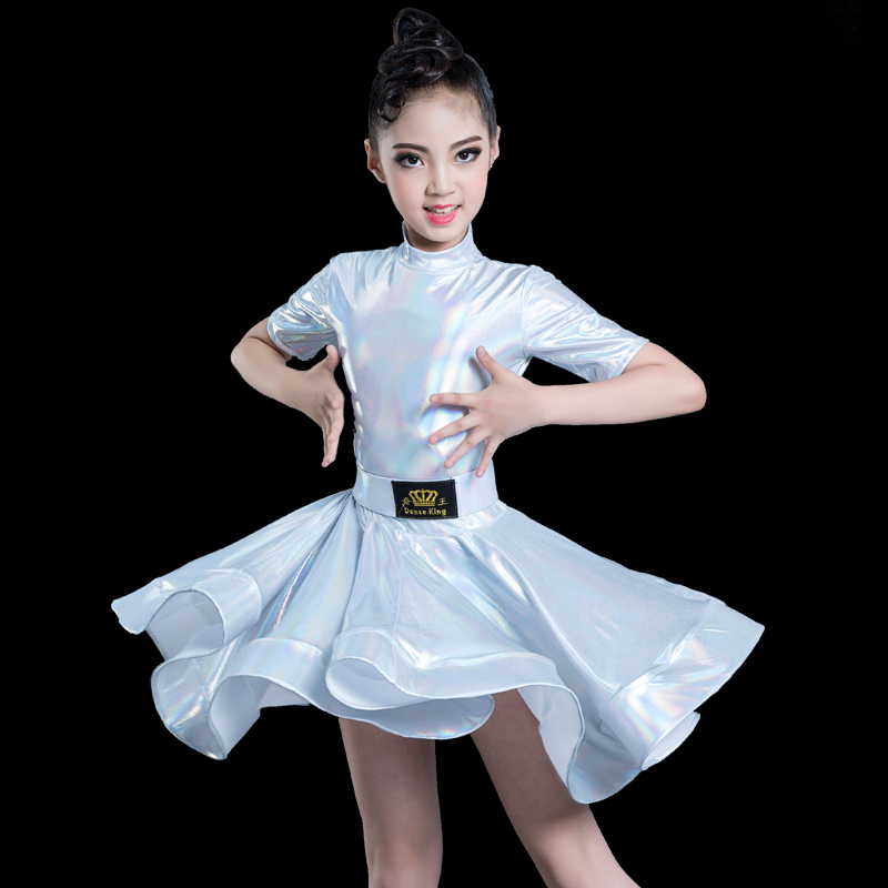 New Children Latin Dance Dress Girl Dance Practice Dress Professional Competition Rules Grade Performance Costumes