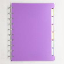 B5 notas para estudiantes Mushroom Hole hebilla de anillo de plástico encuadernación adecuada para estudiantes de secundaria uso General cuaderno de hojas sueltas
