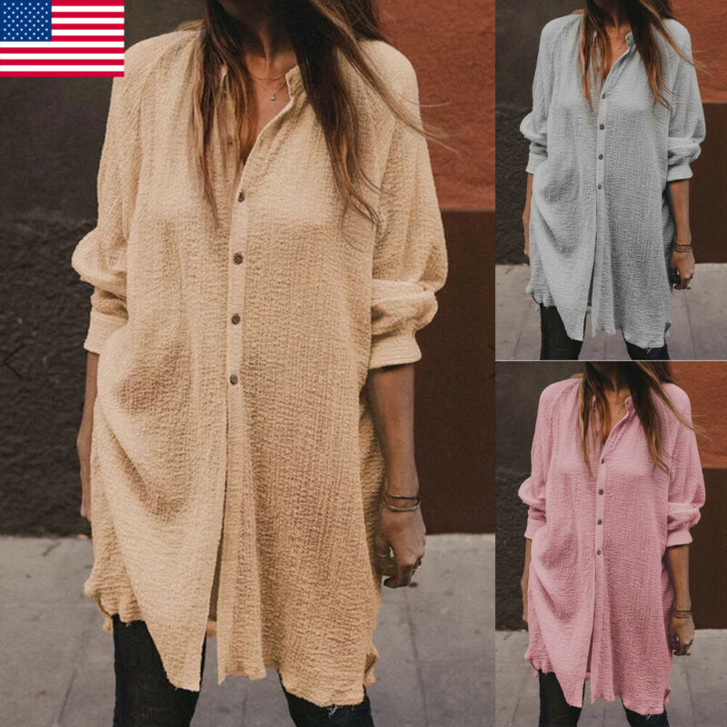 Cotton Linen Womens Tops And Blouses Plus Size Long Sleeve O-Neck Fashion Female Tunic Button Thin Autumn Shirts Casual Blusas