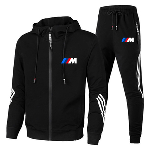 New BMW M Men's Autumn Winter Sets Zipper Hoodie+pants Two Pieces Casual Tracksuit Male Sportswear Gym Brand Clothing Sweat Suit