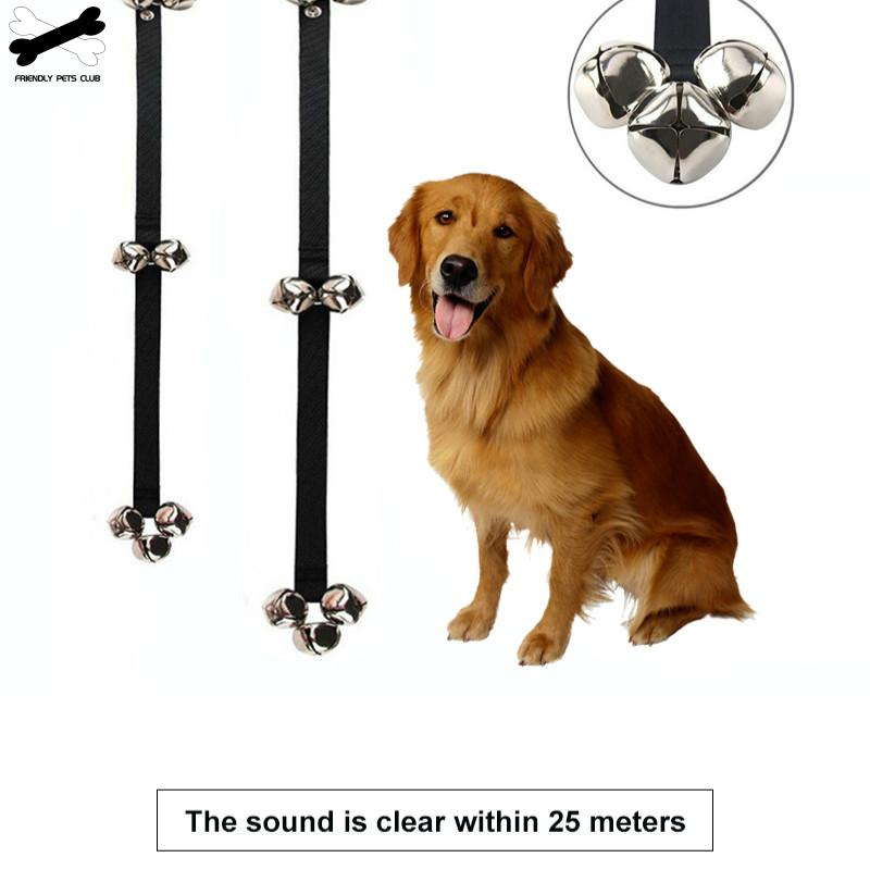 Pet Dog Training Dogs Doorbell Adjustable Rope Housetraining Communicate Alarm Clicker Training For Small Medium Large Pet Dog-3