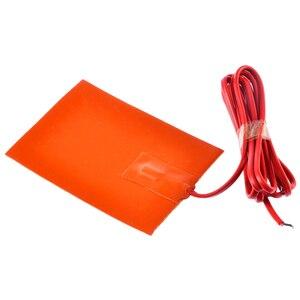 Image 2 - 1pc 250W 9x13cm cuscinetto riscaldatore serbatoio coppa olio motore 220V blocco riscaldatore Silicone piastra riscaldante serbatoio idraulico