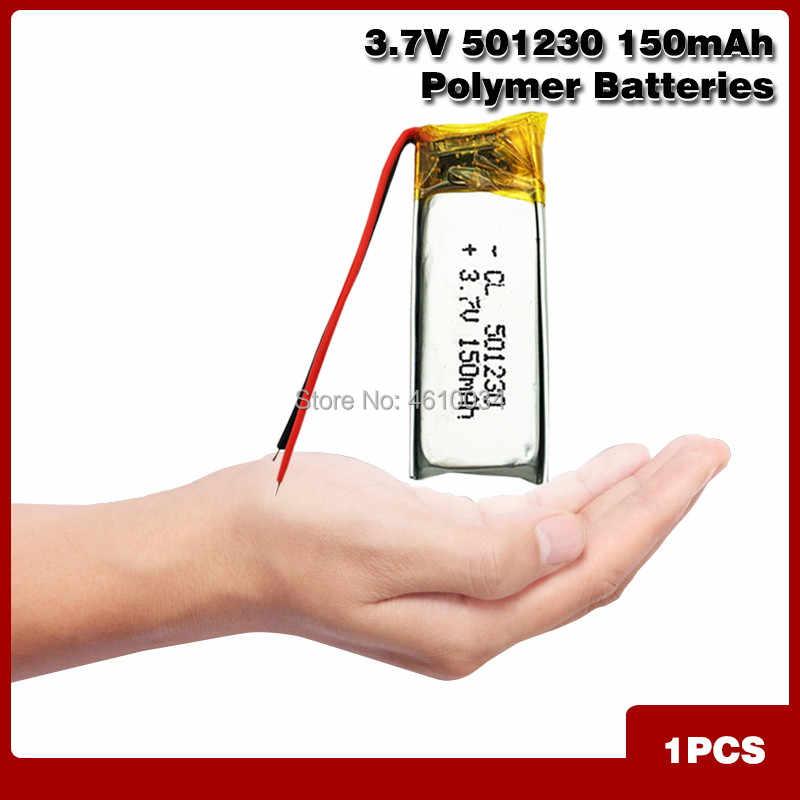 3.7V 150mAh 501230 lityum polimer ı ı ı ı ı ı ı ı ı ı ı ı ı ı ı ı ı ı ı ı li-po şarj edilebilir pil için DIY Mp3 GPS bluetooth kulaklık kulaklık