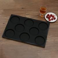 Hambúrguer Silicone Formas de Pão Padaria Moldes de Cozimento Antiaderente Perfurada Folhas Fit Metade do Tamanho Pan|Moldes para waffle| |  -