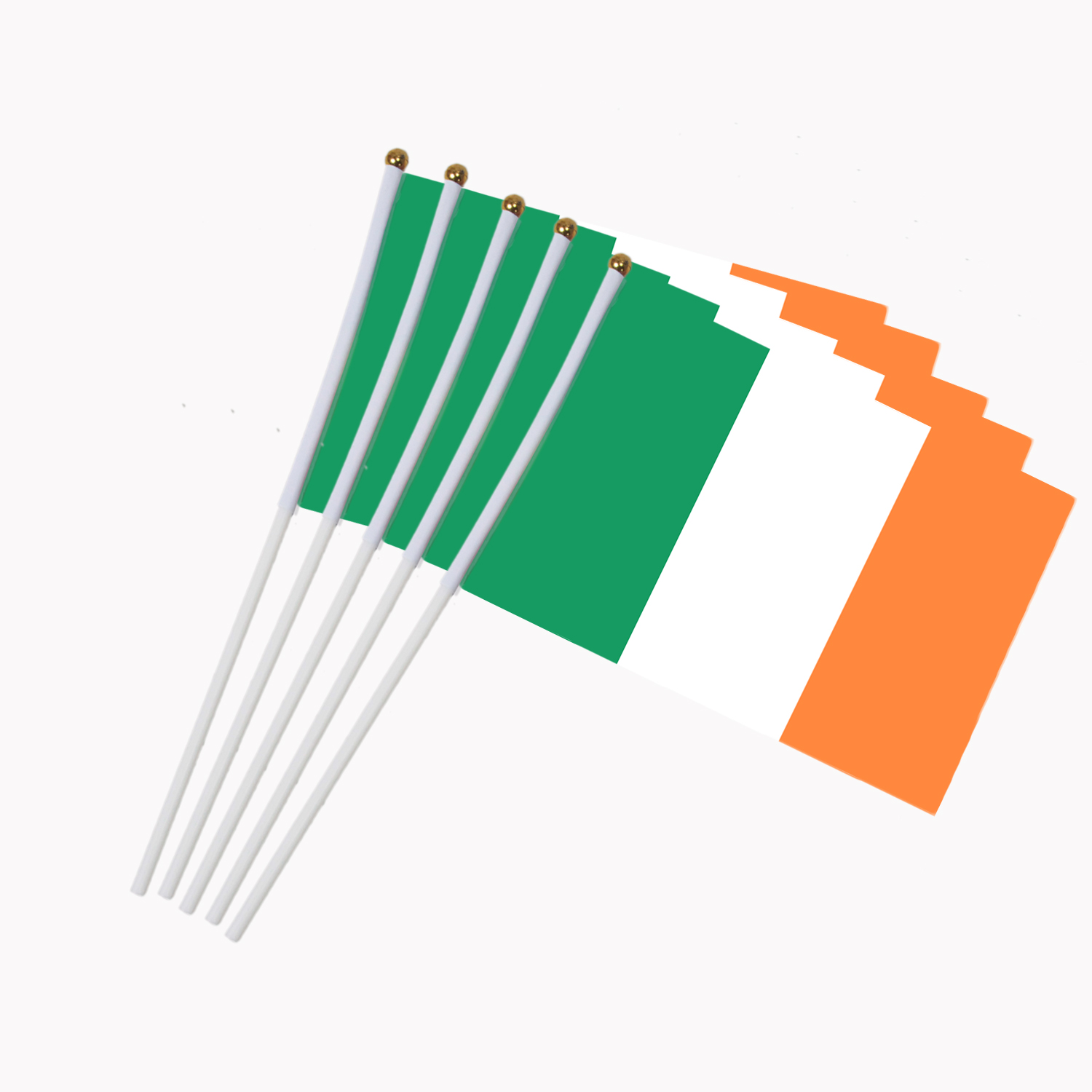 5pcs Promotion Wholesale Small Ireland Hand Waving National Flag 14*21cm #8 Polyester Flag