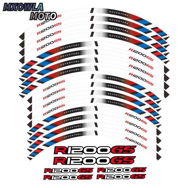$ 9.09 motorcycles wheel stickers Reflective Rim moto Stripe Tape For R1200GS ADVENTURE 19''17''